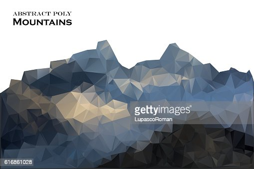 Abstract background mountains polygonal style. Vector illustration. Design element. : Vector Art