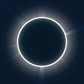 Abstract background. Neon round. Eclipse with rays vector illustration.