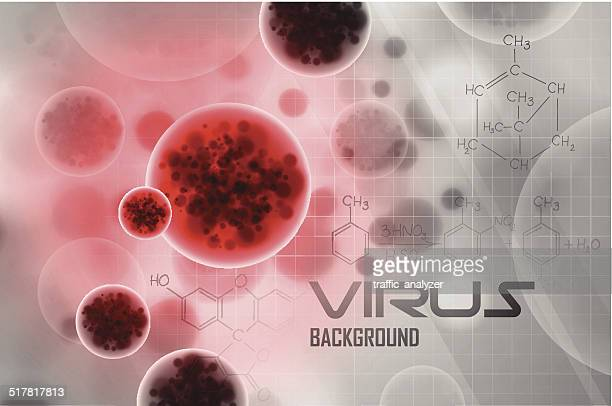 Abstract background of a virus