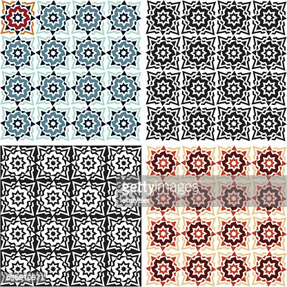 Abstract background. Ornamental seamless pattern. : Vector Art