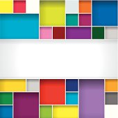 Abstract color boxes background with copy space.