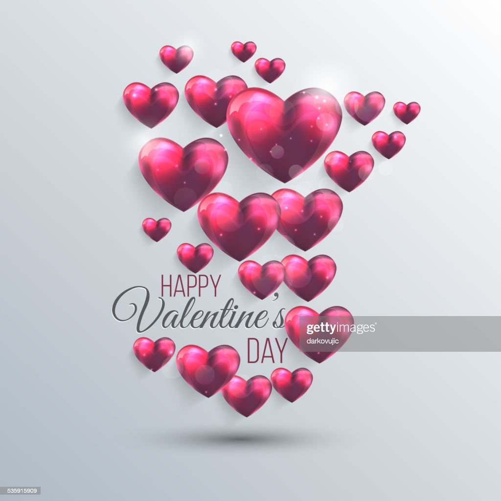 Fundo abstrato com corações Rosa valentine : Arte vetorial