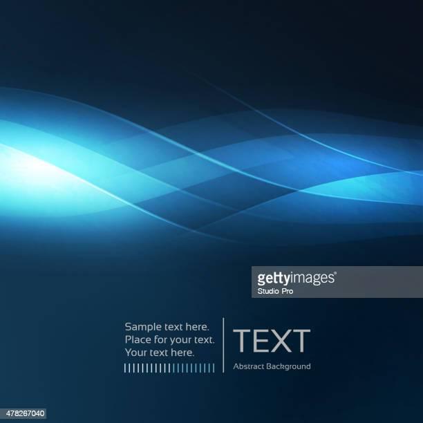 Abstrakt Hintergrund mit blauen Wellen
