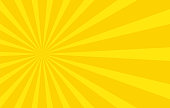 Abstract background with cartoon rays of yellow color. Template for your projects. The cartoon sun. Flat style