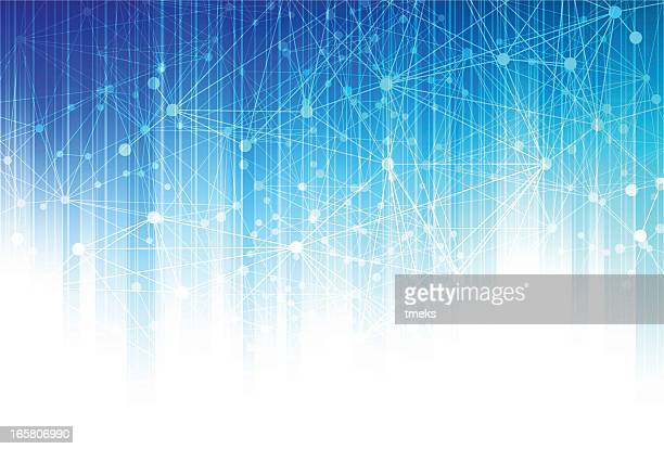 Abstract background with dots connected by lines