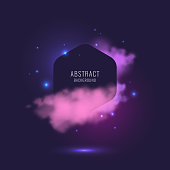 Abstract background with dynamic particles. Vector illustration