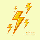 Abstract background with electric lightning. Thunder Lighting. Danger