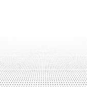 Abstract background - point surface with perspective. Vector illustration.