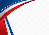Abstract background with shapes with the colors of the flag of USA, Costa Rica, Chile, to use as Diploma or Certificate. Vector image