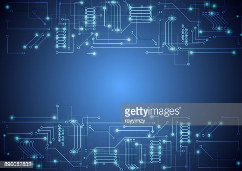 Abstract background with technology circuit board texture. Electronic motherboard illustration. Communication and engineering concept. Vector illustration : stock vector