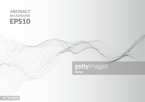 Abstract background with wavy texture. Distortion of space. : Vector Art