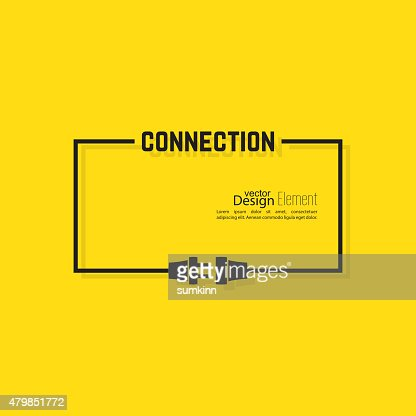 Abstract background with wire plug and socket : stock vector