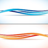 Abstract backgrounds with waves. EPS 10 vector illustration, transparency and gradients used