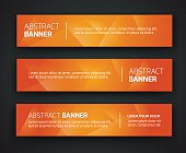 Abstract banner design, gradient polygonal style. Vector