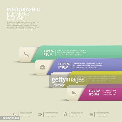 abstract banner infographics : Vector Art