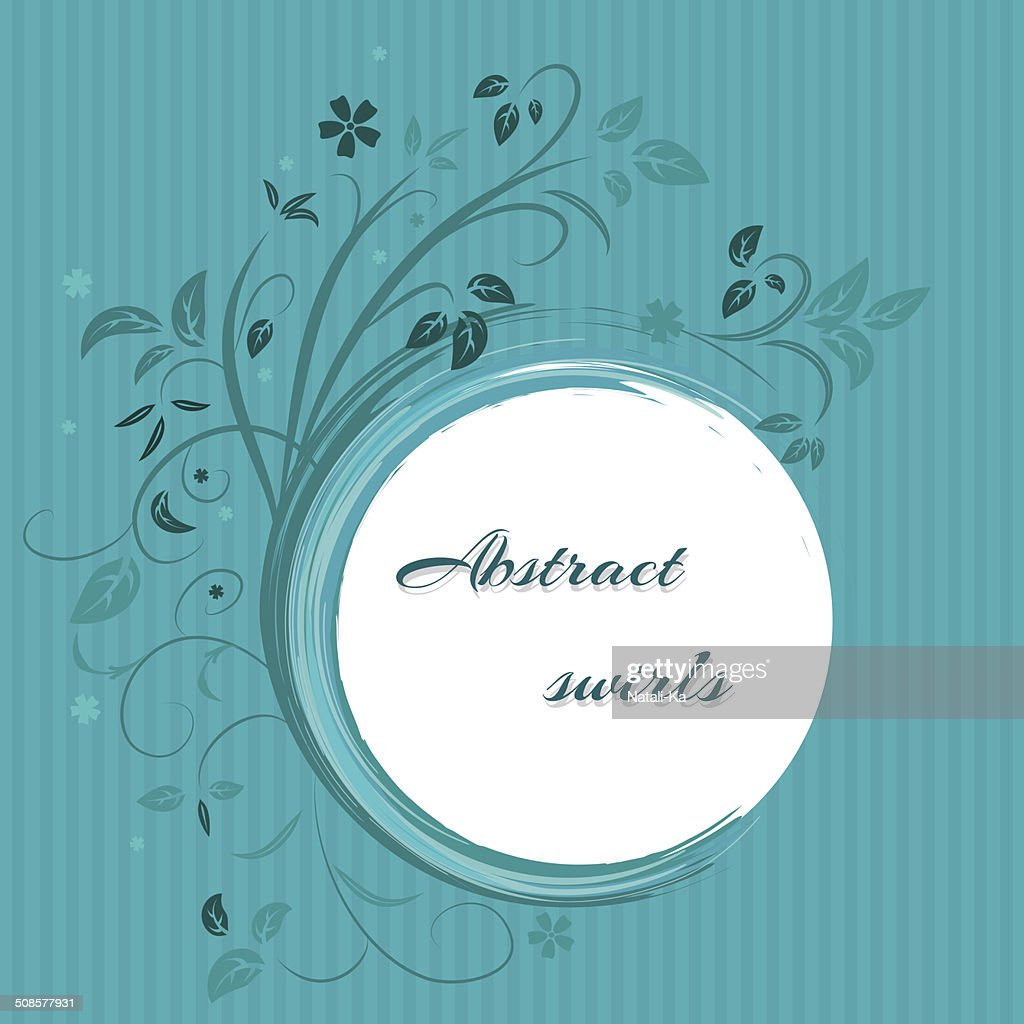 Abstract banner with curls of blue color : Vector Art