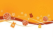 Abstract Basketball Background with Jerseys