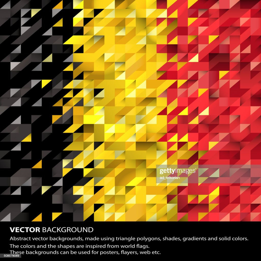 Abstract Belgium Flag, Colorful background (Vector Art) : Vector Art