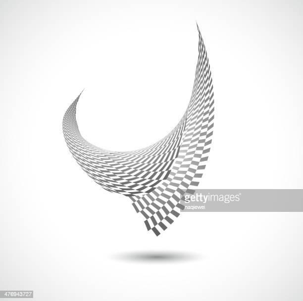 Abstrait noir et blanc motif oiseaux de fond
