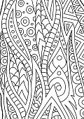 Abstract black and white art for coloring book pages