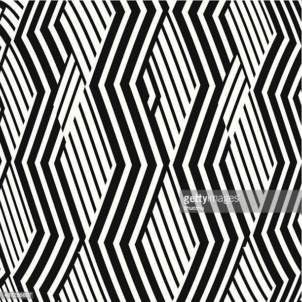 abstract black and white wave stripe pattern background