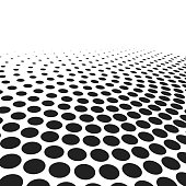 abstract black dots on white. spotted vector background