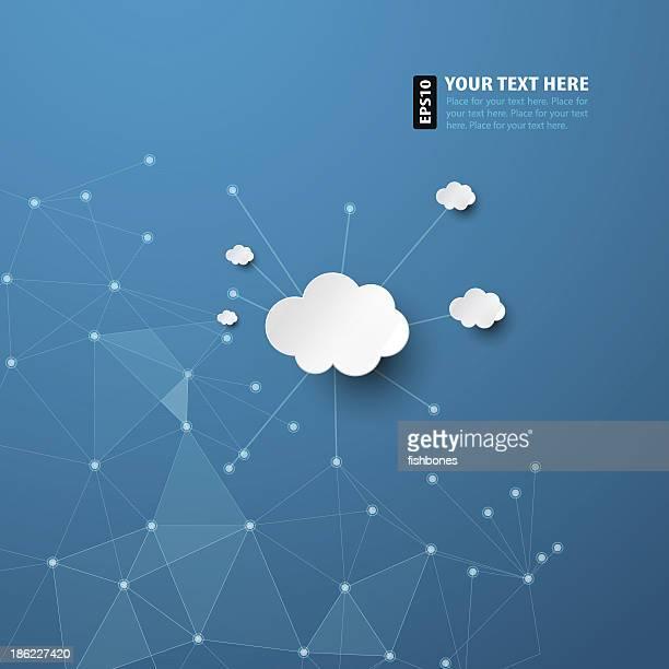 Astratto sfondo blu con nuvole bianche