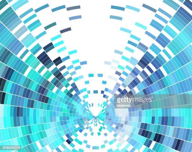 Abstrakte blaues Karomuster Technologie Hintergrund
