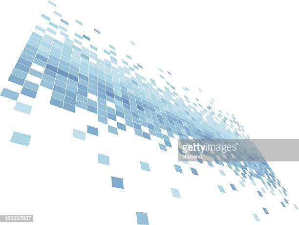 abstract blue data flowing concept background