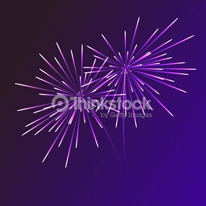 abstract blue fireworks explosion on transparent background new year celebration fireworks holiday fireworks on dark background vector illustration