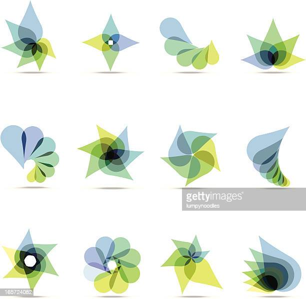 Abstract Blue & Green Design Elements