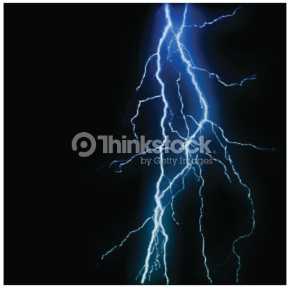 Abstract Blue Lightning Flash Background Vector Stock Vector