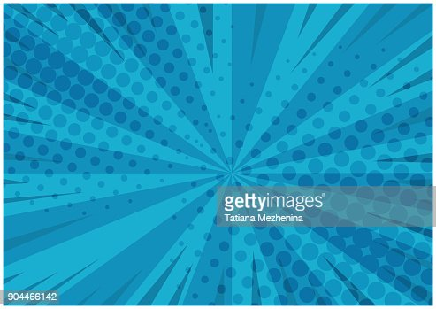 Abstract blue striped retro comic background : Vector Art