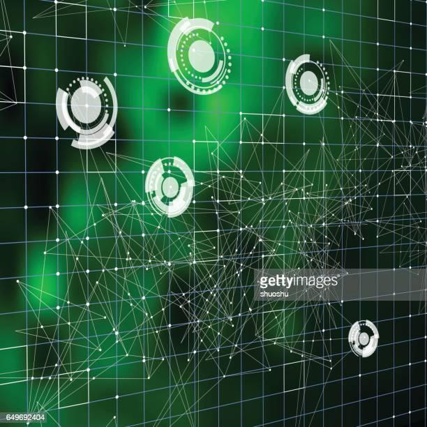 Abstrakte blauen Technologie-touch-Bildschirm-Hintergrund