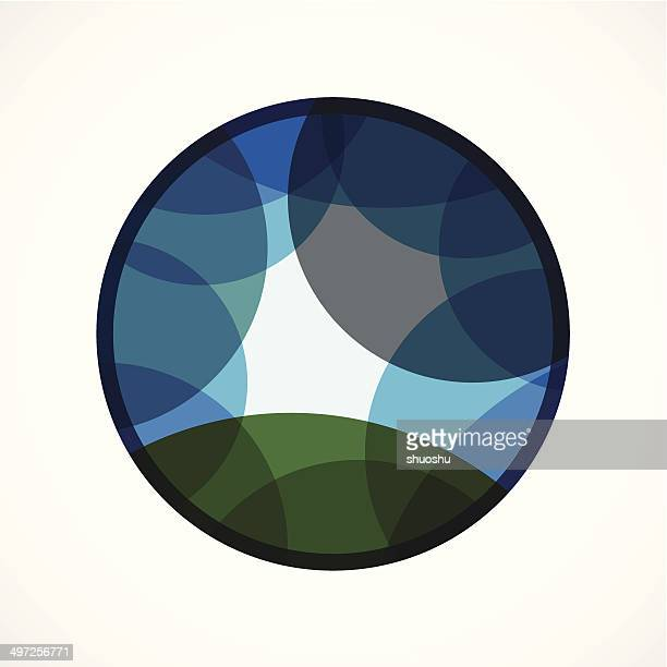 abstract blue transparency curve pattern background