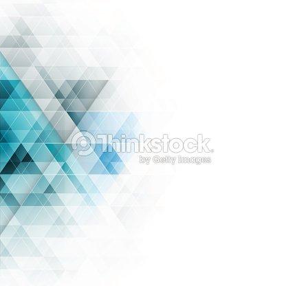 Abstrakt blaue Dreiecke geometrischen Hintergrund. Vektor-Illustration. : Vektorgrafik