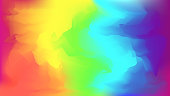 Abstract modern vector bright rainbow blurred background. Colorful trendy chaotic mesh wallpaper in rainbow colors for web design