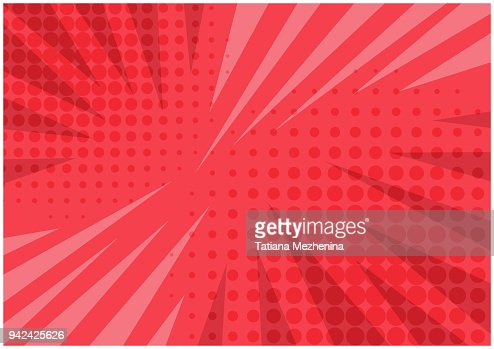 Abstract bright red striped retro comic background : stock vector