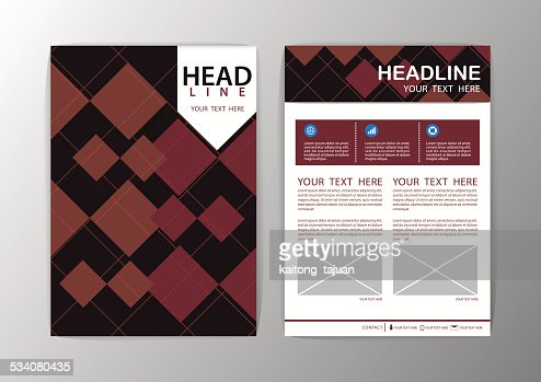 Abstract Brown Square Geometric Brochure Template Flyer Layout