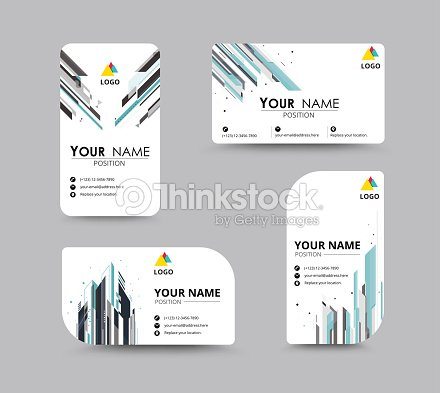 Abstract Business Card Template With Sample Name Position City ...