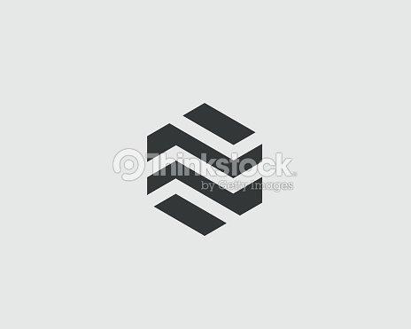 Abstrakt Business Premiumlogodesignvorlage Sechseck Real Estate ...