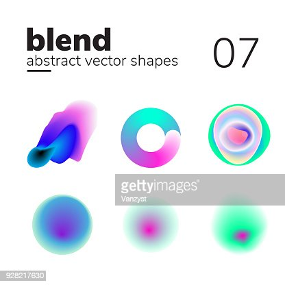 Abstract chaotic shape form for your design : stock vector