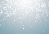 Abstract Christmas Background with Snowflakes, Vector Illustration
