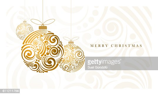 Abstract Christmas Balls : Vector Art