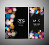 Abstract Circle bokeh. Brochure business design template or roll up. vector illustration.