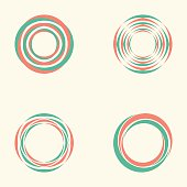 Abstract circle creative signs and symbols, Circles elements