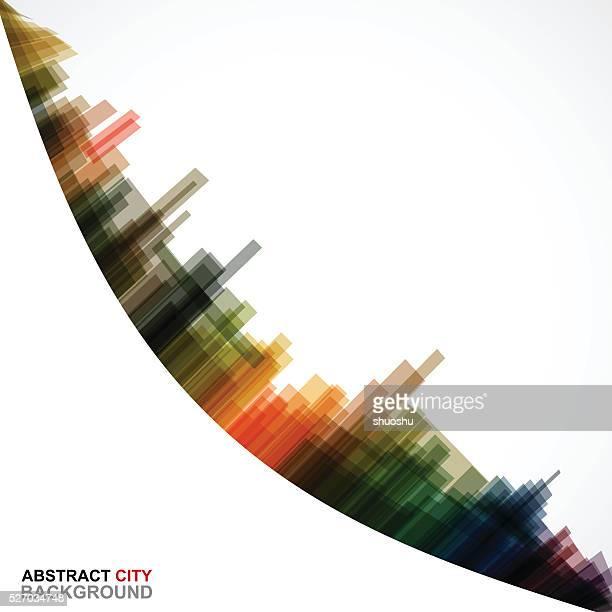 Fond abstrait motif de la ville