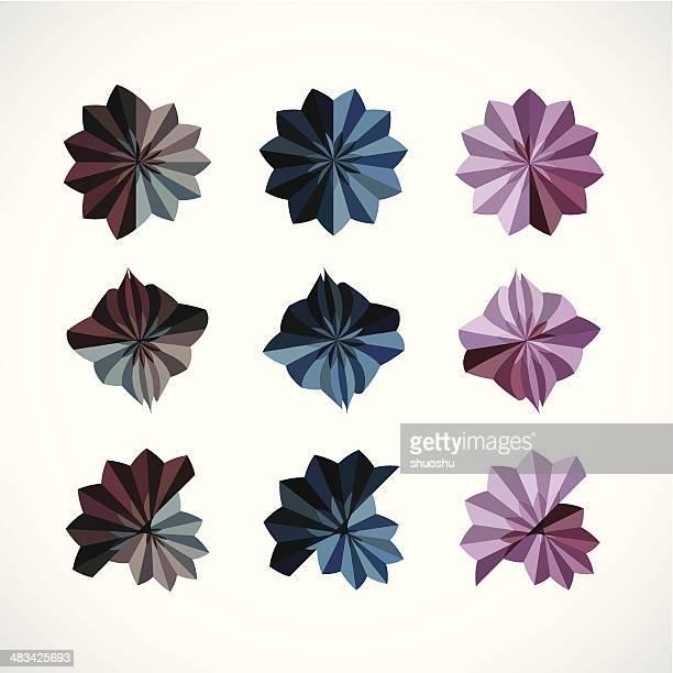 Patrón floral abstracto color de señal