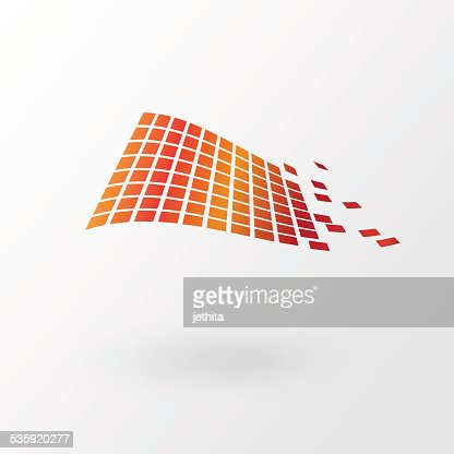 abstract color pixels tile floating : Vector Art