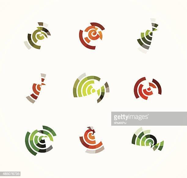 Abstracto colorido arco estilo de diseño de señal